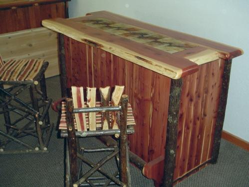 rustic red table red cedar rustic bar barn wood furniture rustic barnwood and