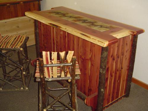 Red Cedar Rustic Bar Barn Wood Furniture Rustic