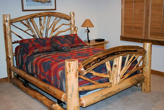 Cedar bent branch bed arched barn wood furniture rustic furniture log furniture by vienna - Adirondack bed frame ...
