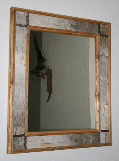 Elegant Birch Bark Mirror1