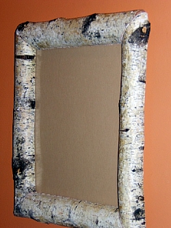 White Birch Log Mirror Barn Wood Furniture Rustic