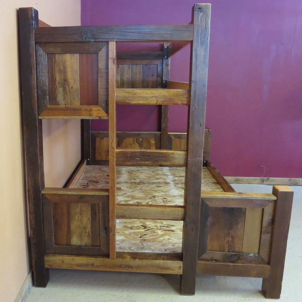 Barn Wood Bunk Bed Barn Wood Furniture Rustic Barnwood And Log