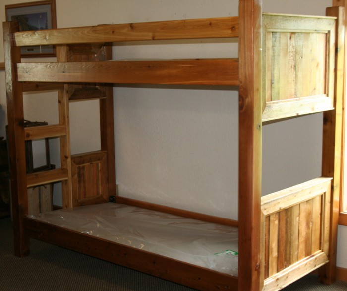 Barnwood Style Bunk Bed From Reclaimed Cedar — Barn Wood Furniture