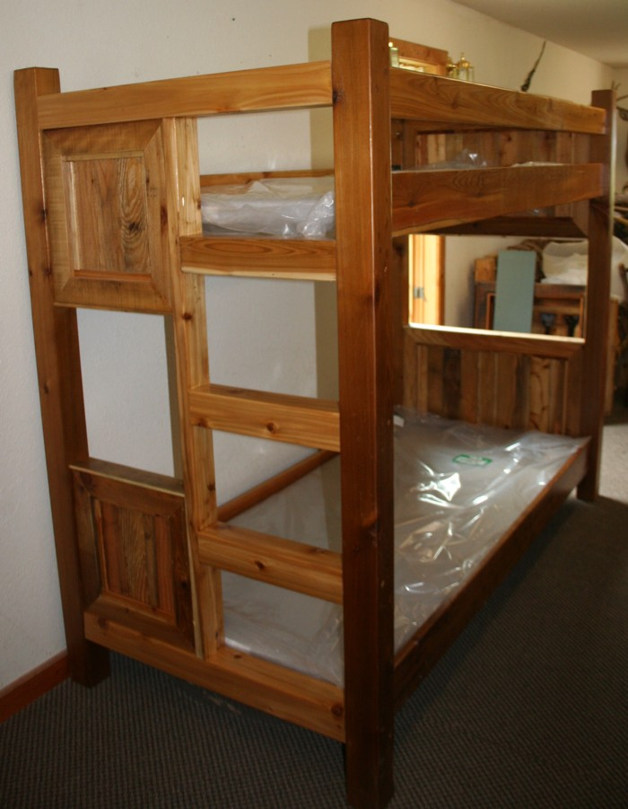 Barnwood Style Bunk Bed From Reclaimed Cedar Barn Wood