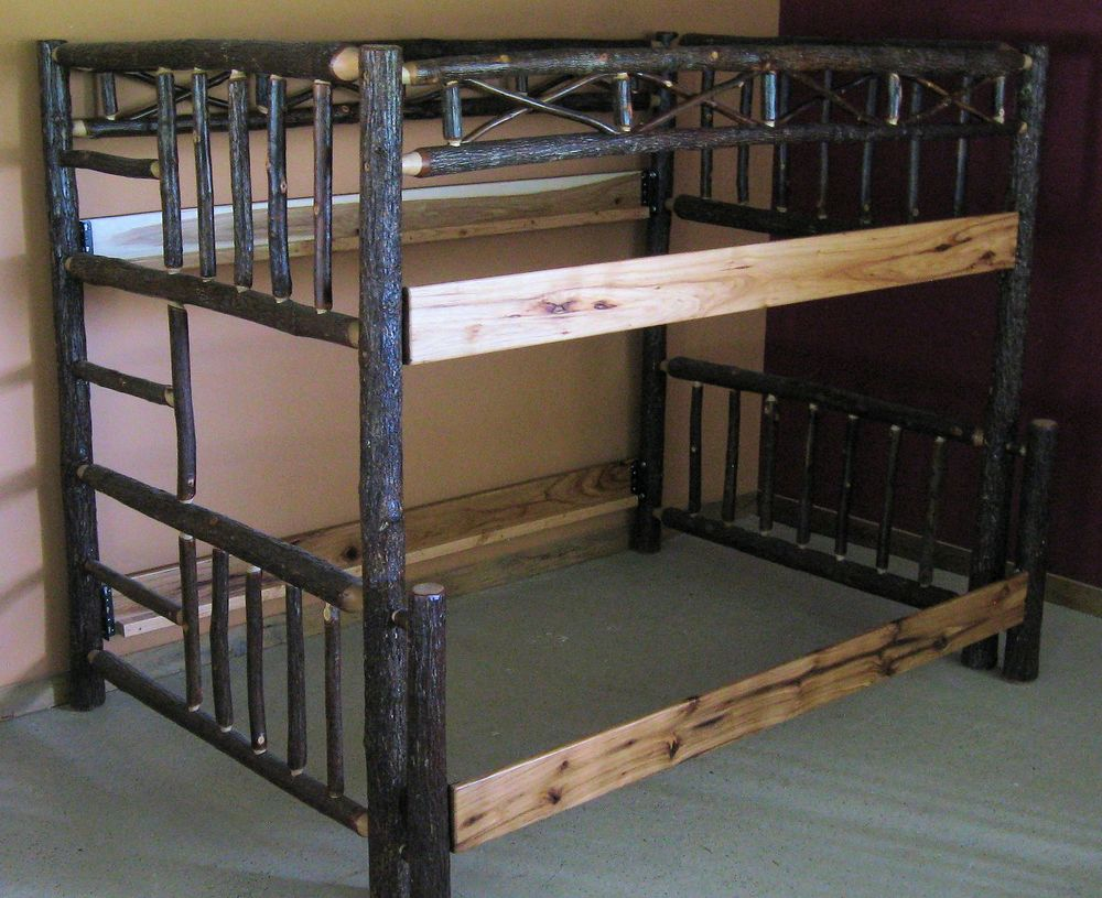 Hickory Bunk Bed Barn Wood Furniture Rustic Barnwood And Log Furniture By Vienna