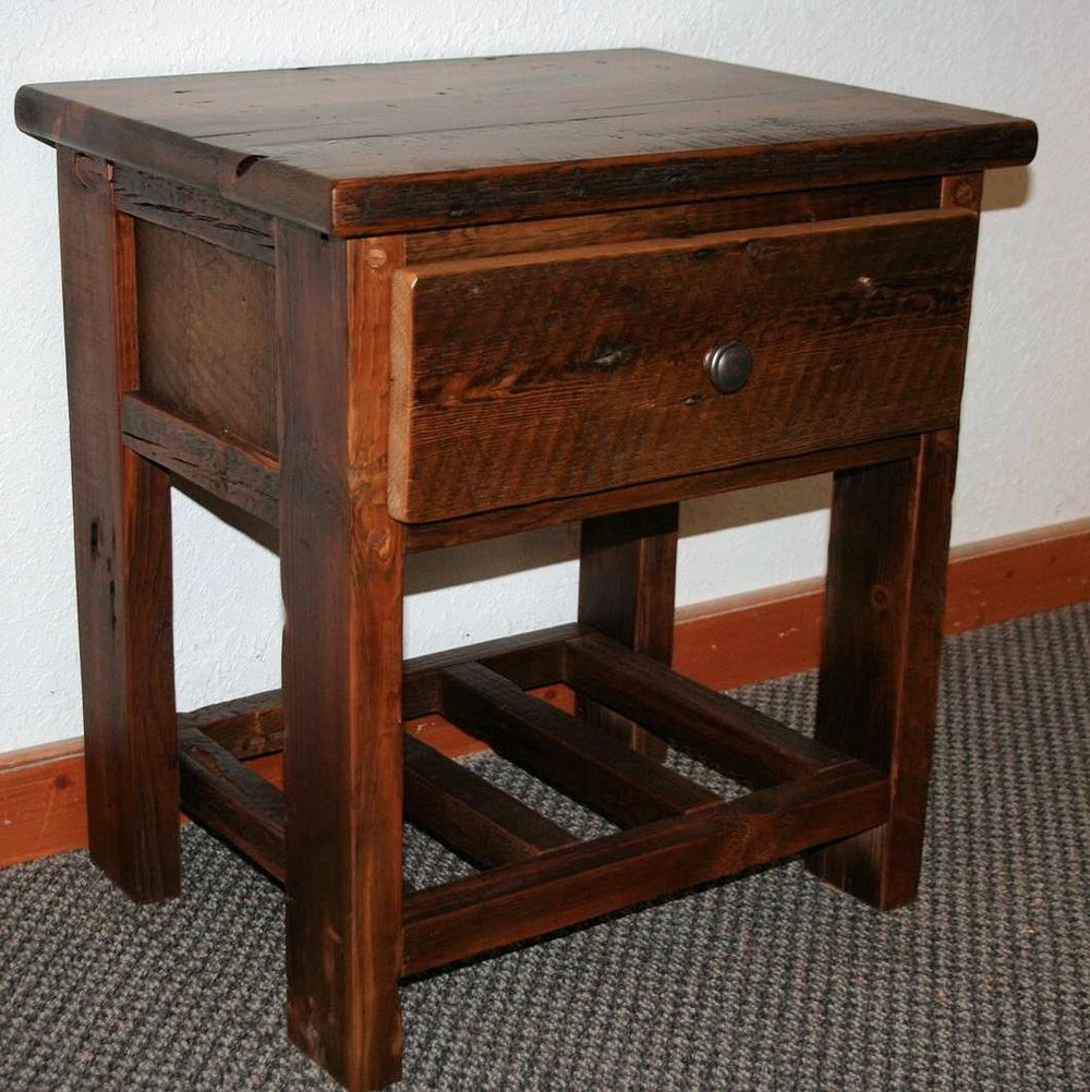 Barn Wood One Drawer Night Stand End Table Barn Wood