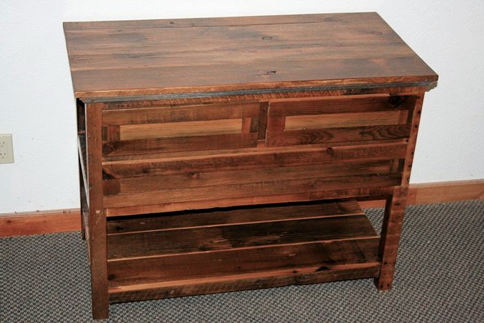 Barn Wood Side Table Small