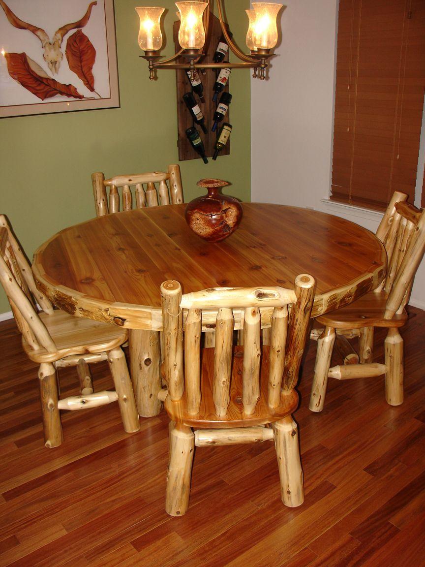 Log Dining Tables Barn Wood Furniture Rustic Barnwood