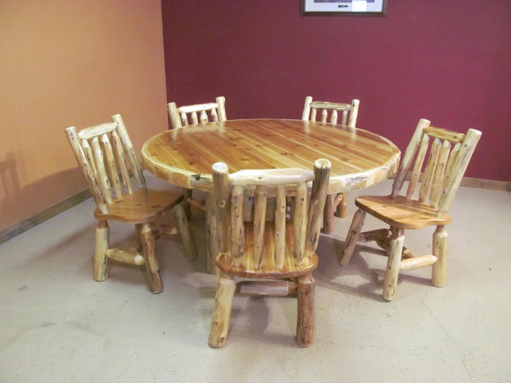 Tables barn wood furniture rustic barnwood and log furniture by december 11 2012 037g log dining tables dzzzfo