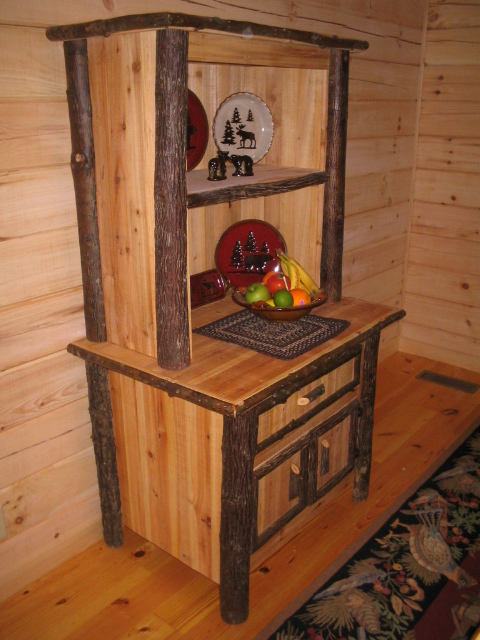 Reclaimed Wood Hickory Hutch - Reclaimed Wood Hickory Hutch €� Barn Wood Furniture - Rustic