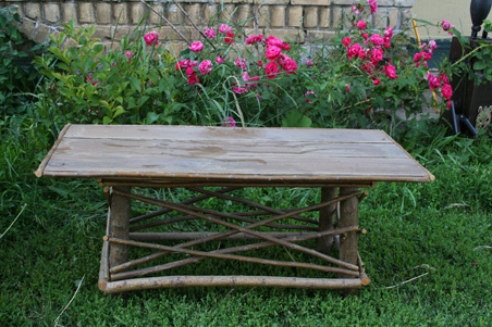 Willow Twig Coffee Table Barn Wood Furniture Rustic Barnwood