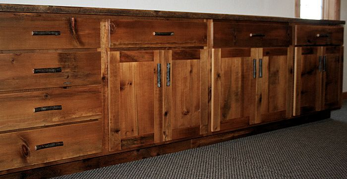 Reclaimed Wood Cabinets Lowers 2