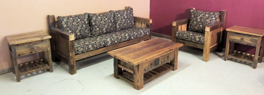 Charming Reclaimed Wood Living Room Sofa