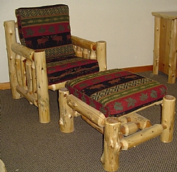 Log Living Room Chair — Barn Wood Furniture - Rustic Barnwood and Log  Furniture By Vienna Woodworks