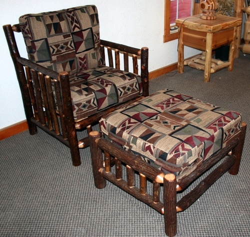 Hickory Log Living Room Chair