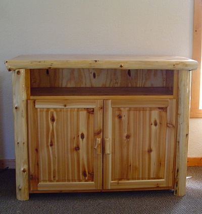 Beau Cedar Log TV Stand