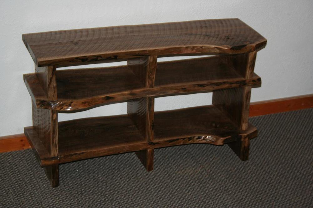 Black Walnut Slab TV Stand