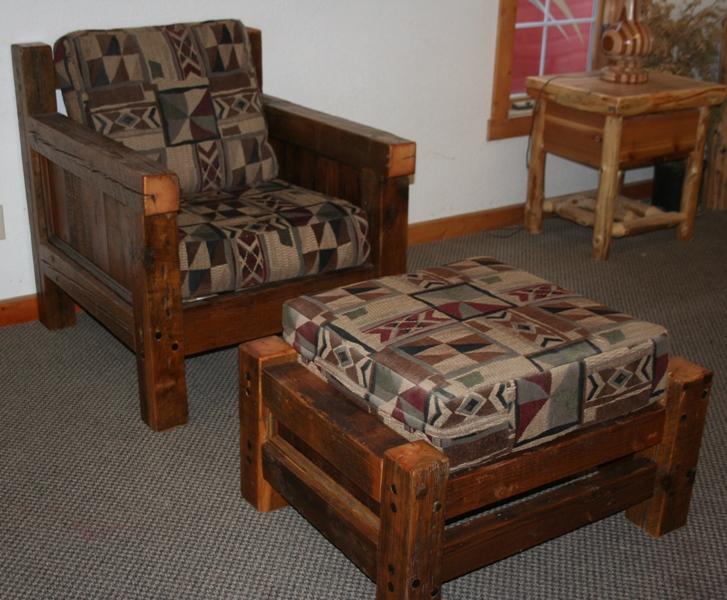 Barn Wood Living Room Chair — Barn Wood Furniture - Rustic Barnwood ...