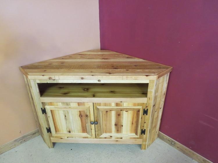 Reclaimed Wood Corner Tv Stand Barn Wood Furniture Rustic