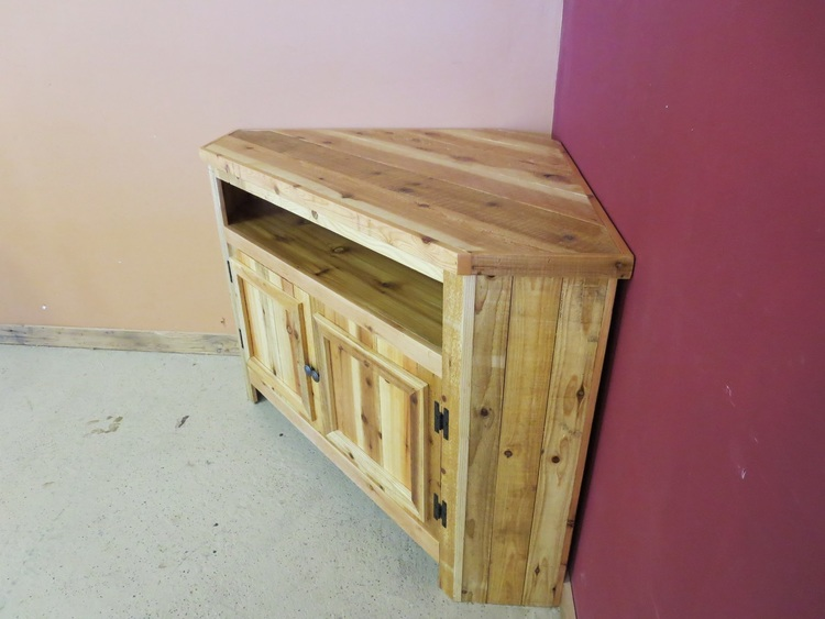 Reclaimed Wood Corner Tv Stand Barn Wood Furniture Rustic