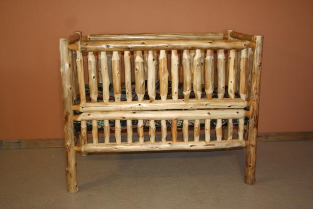 Cedar Log Baby Crib Convertible — Barn Wood Furniture ...