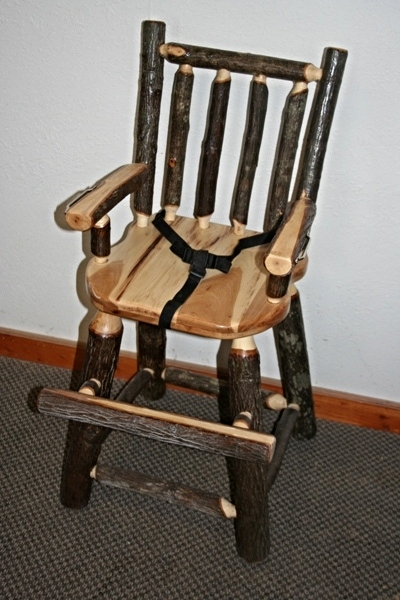 Hickory Log High Chair