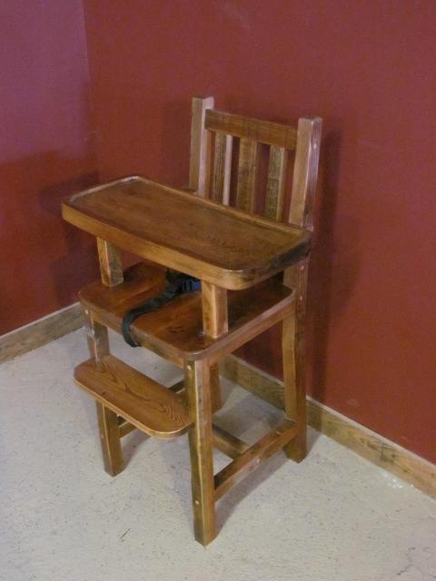 Barn Wood High Chair