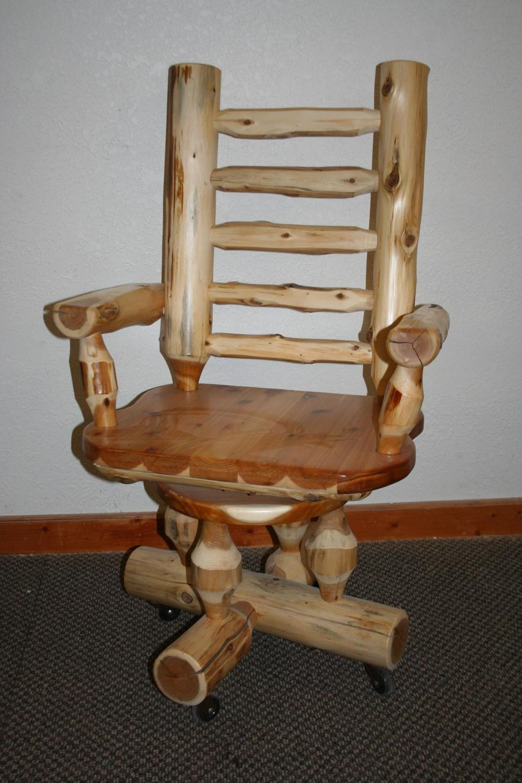 Cedar Log Desk Chair