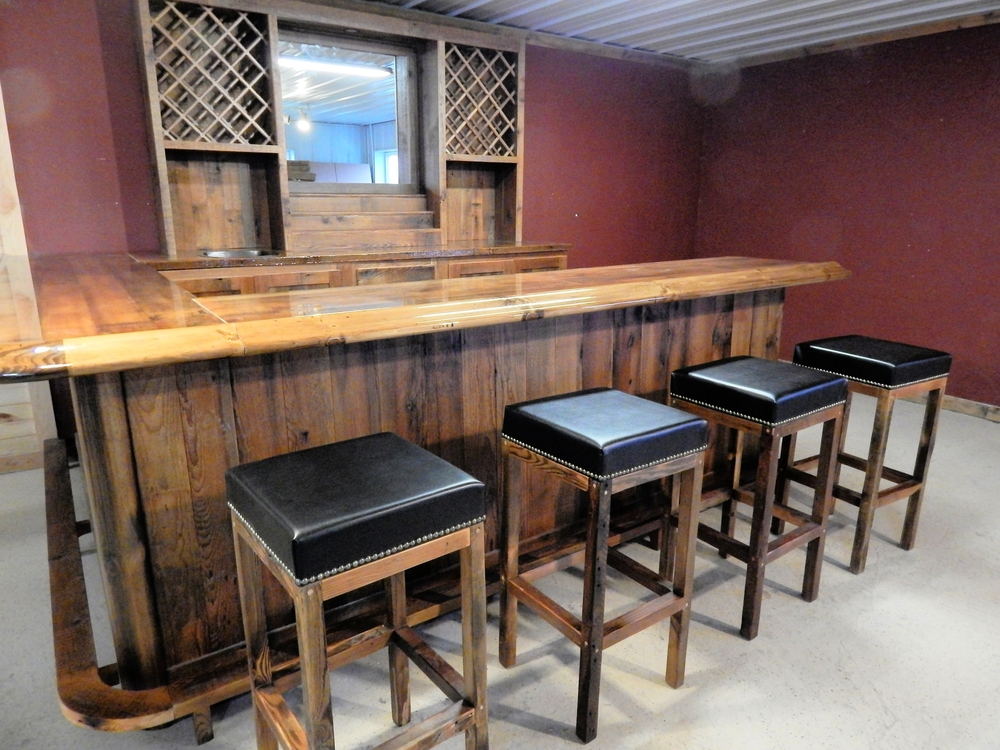 Reclaimed Barnwood Bar Furniture