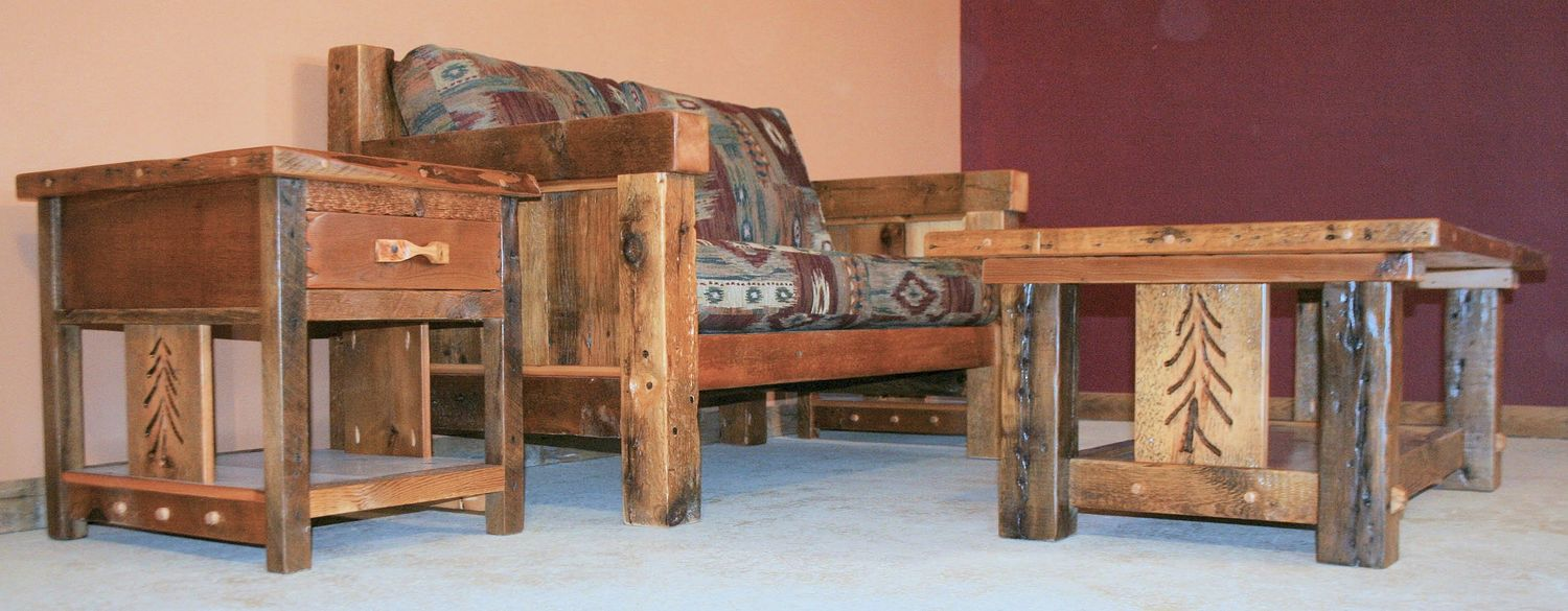 Wooden Living Room Chair Rustic Living Room Furniture Barn Wood Furniture Rustic