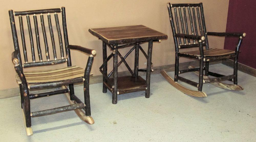 Rustic Rocking Chair U2014 Barn Wood Furniture   Rustic Barnwood And Log  Furniture By Vienna Woodworks