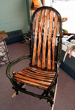 Lovely Hickory Alder Rustic Twig Rocking Chair