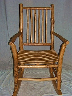Rustic Maple Log Rocking Chair