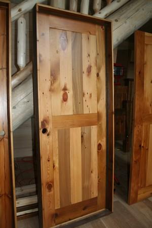 Barn Wood Interior Door Finished Barn Wood Furniture Rustic
