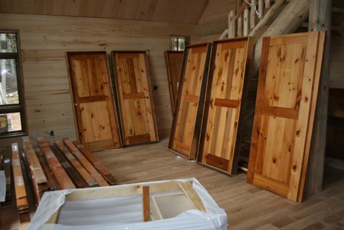 Barn Wood Interior Door Finished
