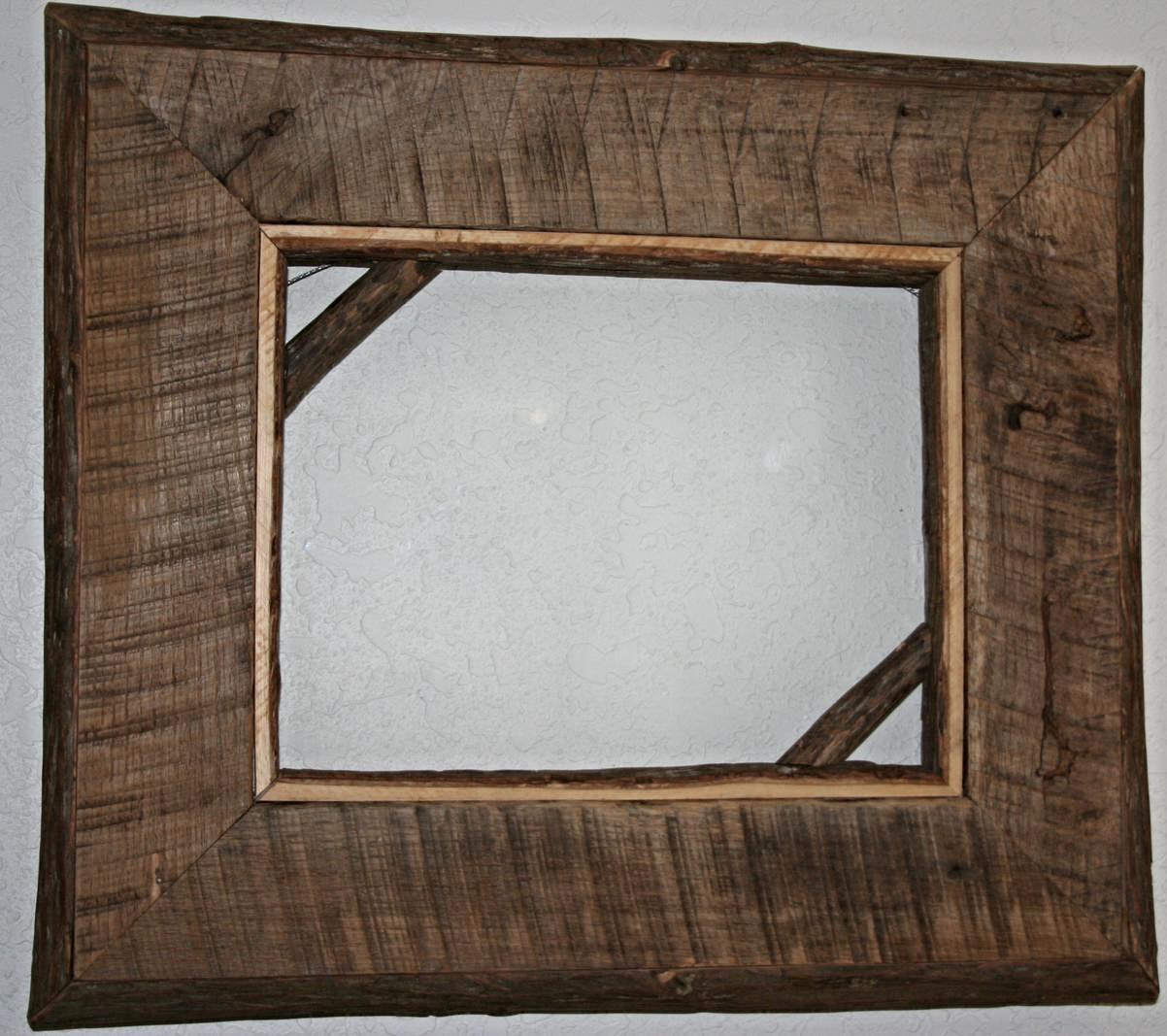 Log Frames And Barnwood Frames — Barn Wood Furniture - Rustic ...