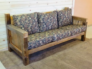 Sofa Love Seat And Chair Cushions Barn Wood Furniture Rustic - Rustic-wood-furniture-for-living-room