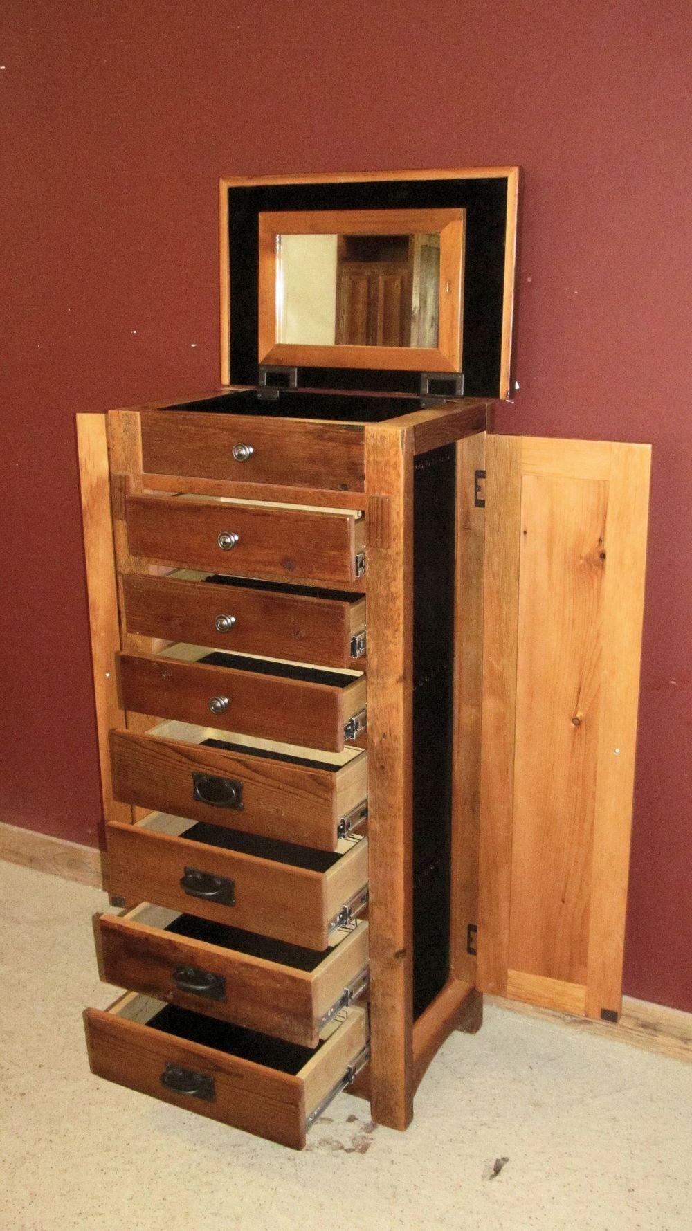 barn wood jewelry box chest - Wood Jewelry Box