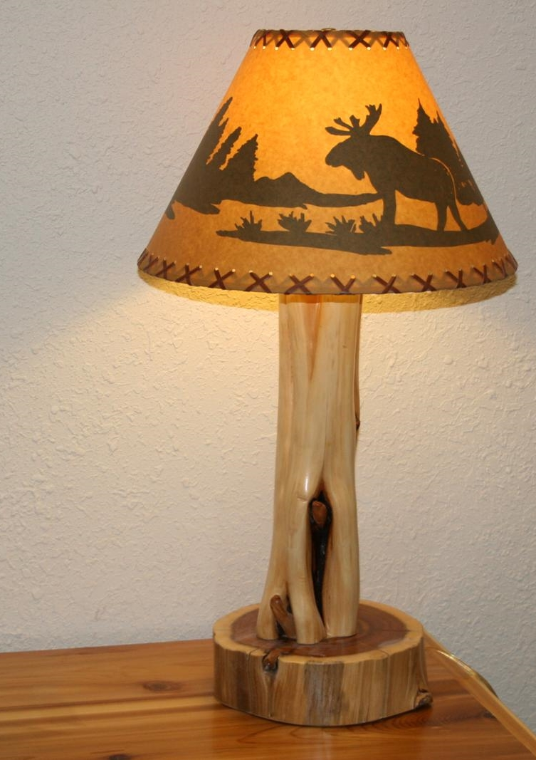 juniper log table lamp