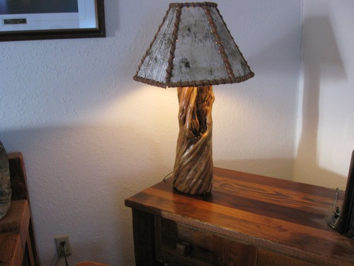 Birch bark lamp shade barn wood furniture rustic barnwood and birch lamp shades 018g mozeypictures Gallery