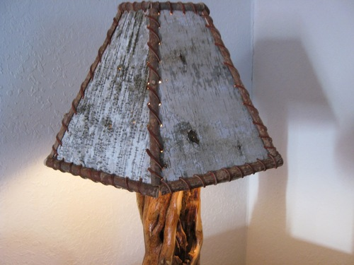 Birch bark lamp shade barn wood furniture rustic barnwood and birch lamp shades 019g mozeypictures Gallery