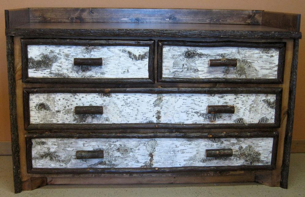 Marvelous Birch Bark Dresser