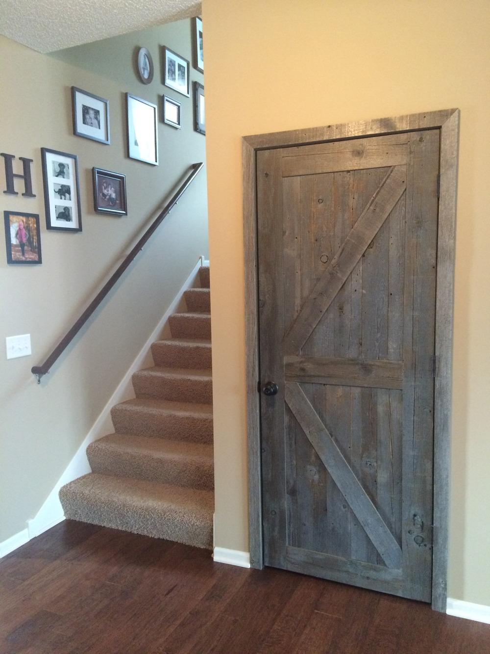 Bon Gray Weathered Barn Wood Door