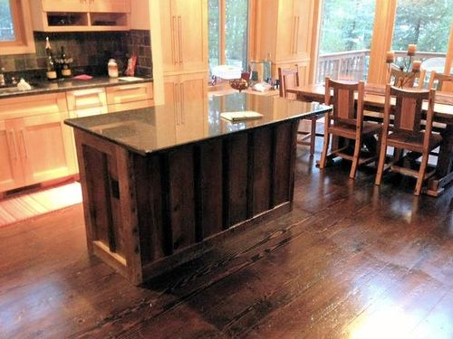 Barn Wood Kitchen Island — Barn Wood Furniture - Rustic Barnwood and ...