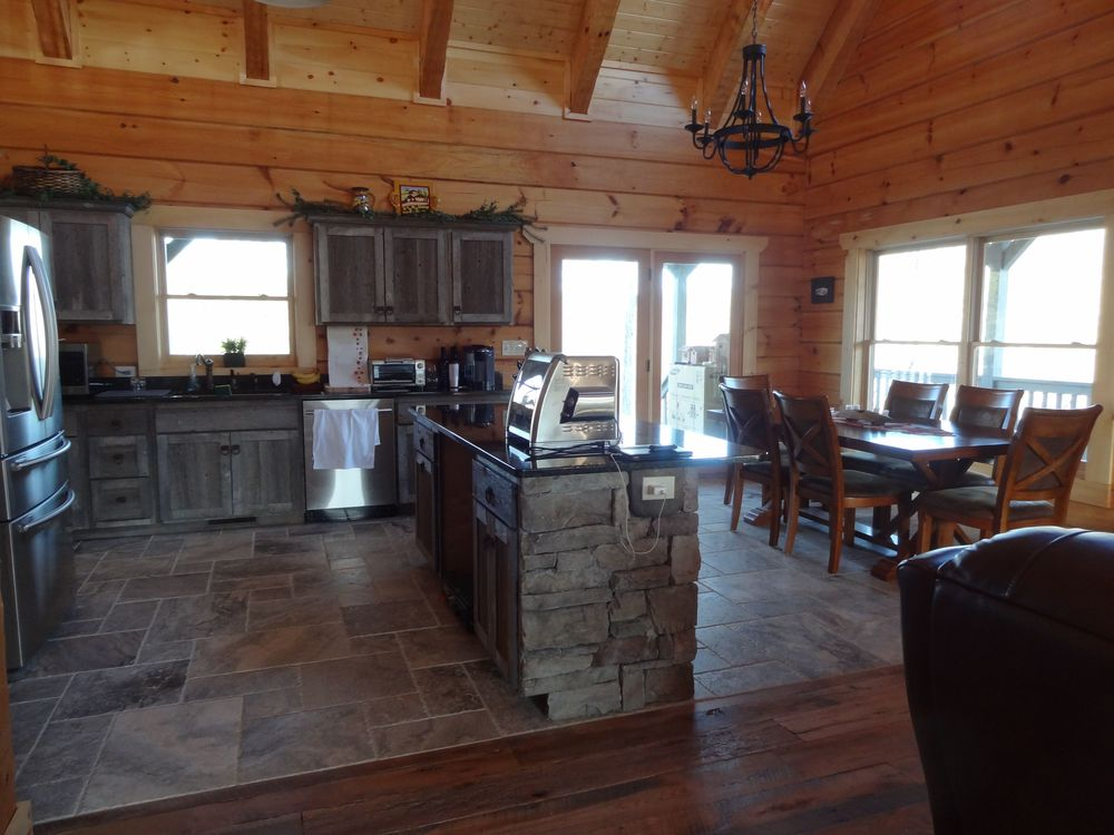 photo steel cabininthewoods kitchen barns barnwood wood with designs is backsplash barn how and it ideas a rustic cabinets gallery corrugated little pin love homey