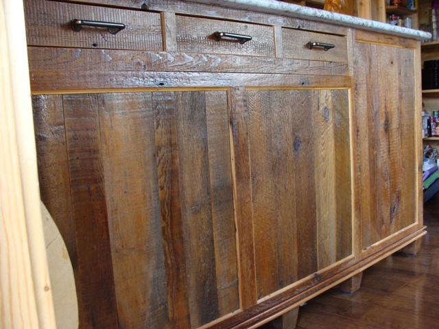 Reclaimed Wood Cabinets ~ Reclaimed barnwood kitchen cabinets — barn wood furniture