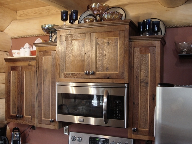 Below For Larger Views Of Our Reclaimed Barn Wood Kitchen Cabinets