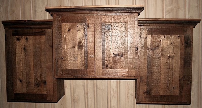 Reclaimed Barnwood Kitchen Cabinets — Barn Wood Furniture - Rustic ...