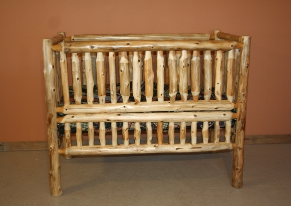 Cedar Log Convertible Crib