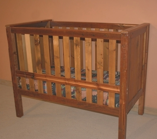 Barn Wood Baby Crib Convertible